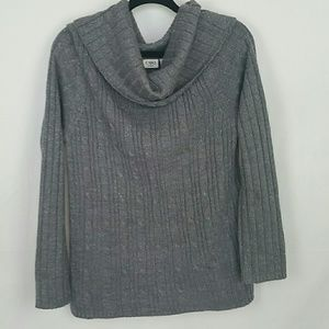 Cato woman sparkly grey knit sweater